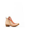 Women's Corral Orange Embroidery Ankle Boots Natural #C3269