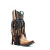 Women's Corral Woven and Fringe Boots Sand #C3286