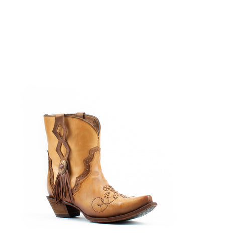 Women's Corral Embroidery with Studs Boots Saddle #C3293
