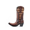 Women's Corral Embroidery Woven Boots Honey #C3384