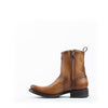 Men's Cuadra Zipper Woven Patch Boots Brown #CU165