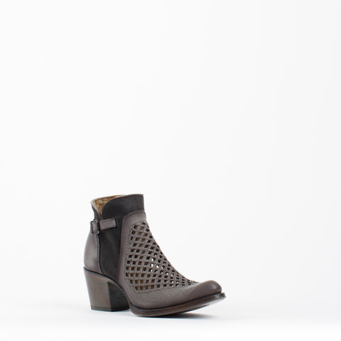 Women's Cuadra Laser Zipper Boots Grey #CU227