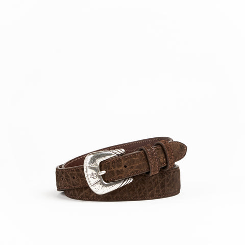 Allens Boots Exclusive Taper Chocolate Hippo Belt #2HH-B