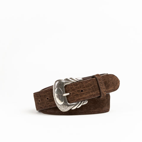 Allens Boots Exclusive Straight Chocolate Hippo Belt #5HH-B