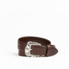 Allens Boots Exclusive Straight Chocolate Calf Belt #5Q-B