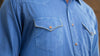 Men's  Ryan Michael Whip Stitch Gabardine Shirt #D1435GU
