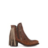 Women's Corral Brown Fringe Ankle Boot #E1215