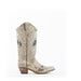 Women's Corral Embroidery with Studs Boots Brown #E1275 view 3