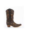 Kid's Corral Full Overlay Boots Brown #E1302