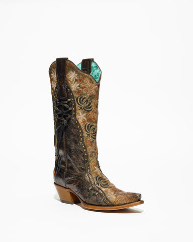 Women's Corral Copper Overlay & Studs Boots #E1324