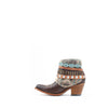 Women's Corral Studded and Woven Harness Boots Brown #E1387