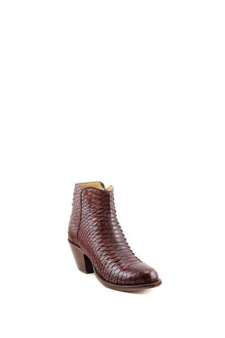 Women's Lucchese Classics Burnished Python Boots Chocolate #F6387 S8/2F