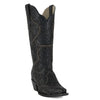 Women's Corral Boots Black Full Overlay with Studs #G1310