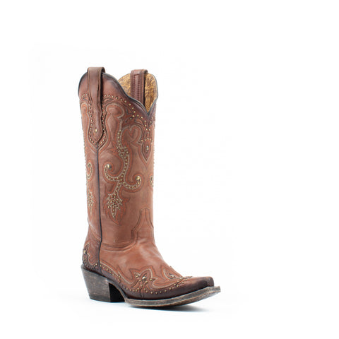Women's Corral Embroidery Boots Whiskey #G1440