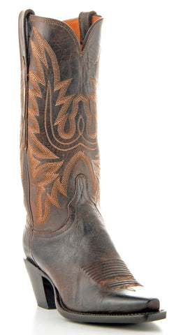 Women's Lucchese Classics Mad Dog Goat Boots Chocolate #GB9240