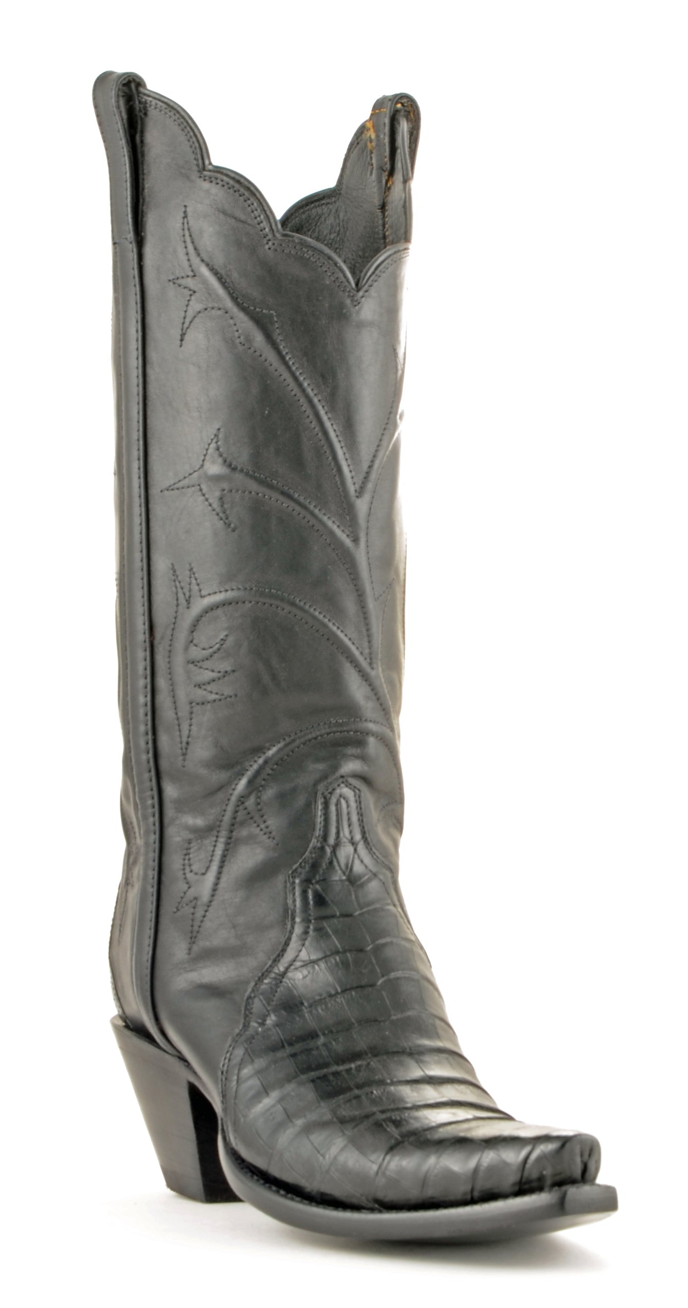 544dc4aa41f Women's Lucchese Classics Ultra Belly Caiman Boots Black #GC9757 ...