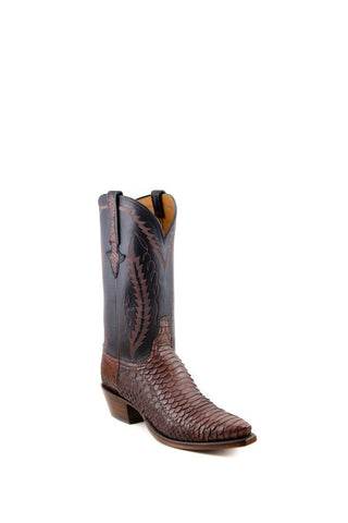 Men's Lucchese Classics Python Boots Chocolate/Black #GC9928 5/4