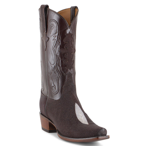 Men's Lucchese Classics Sting Ray Boots Chocolate #GC9968 7/3