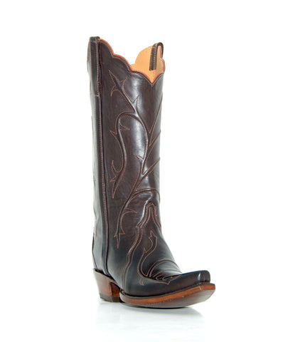 Women's Lucchese Classics Chocolate Burn Ranch Boots #GD9029