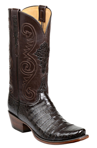 Men's Lucchese Bootmaker Jones Boots Chocolate Ultra Belly #GY1030-7/3
