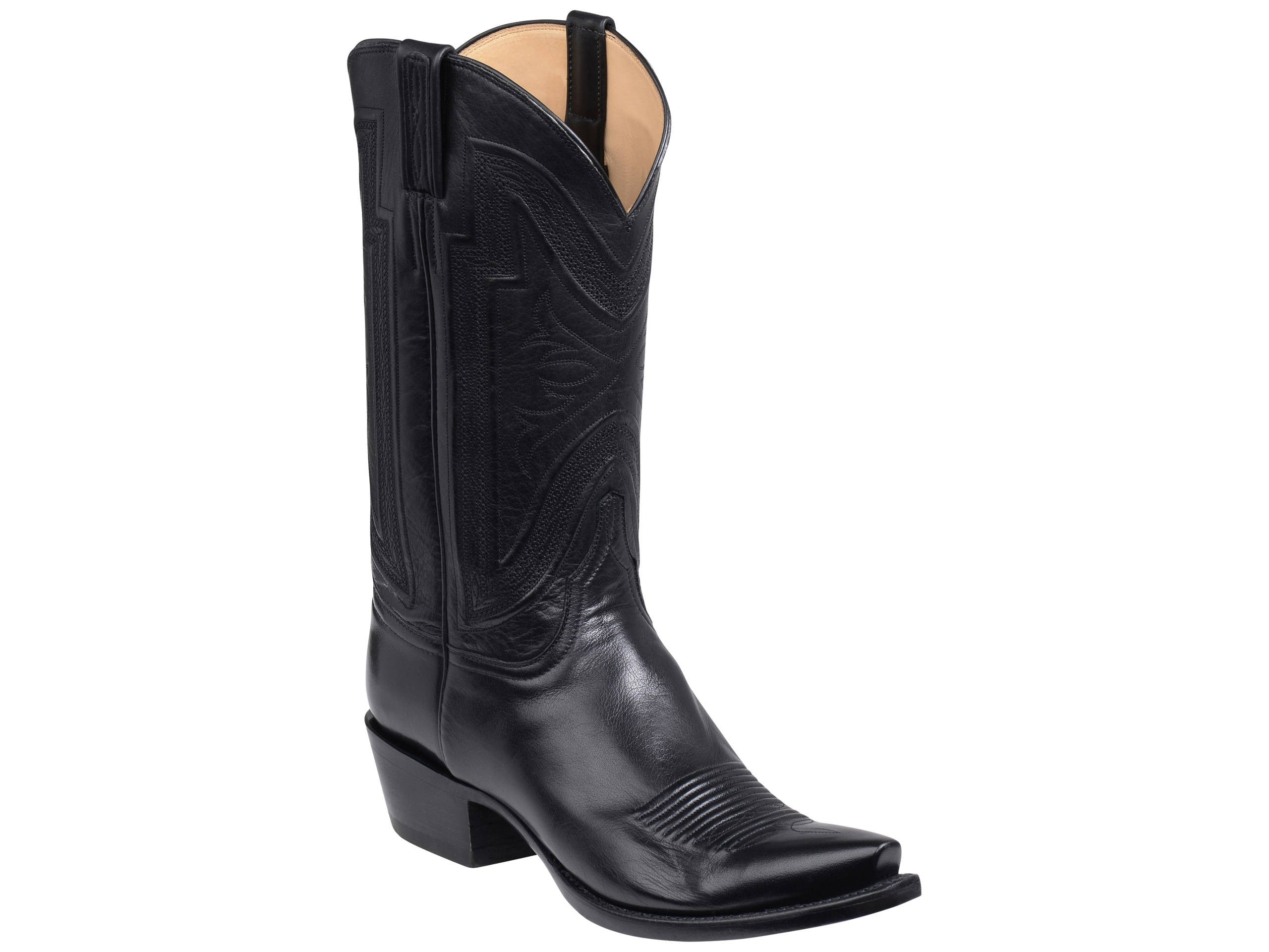 1284baeee06 Men s Lucchese Bootmaker Collins Boots Black  GY1503-5 3 – Allens Boots