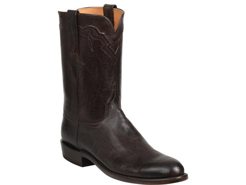 Men's Lucchese Bootmaker Tanner Boots Chocolate Burnished #GY3512-R/R