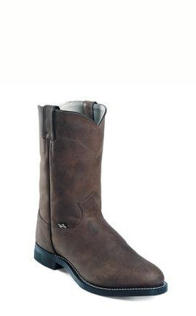 Men's Justin Crazy Cow Roper Boots #JB3001 view 1
