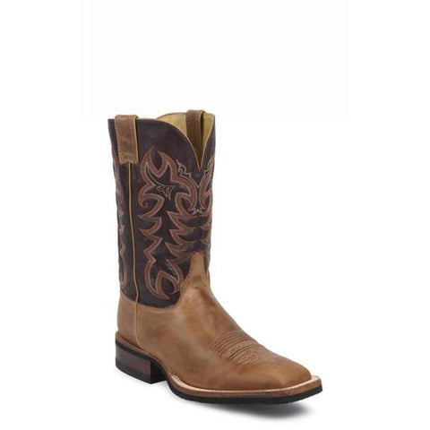 Men's Justin Cowhide America Tan #7051