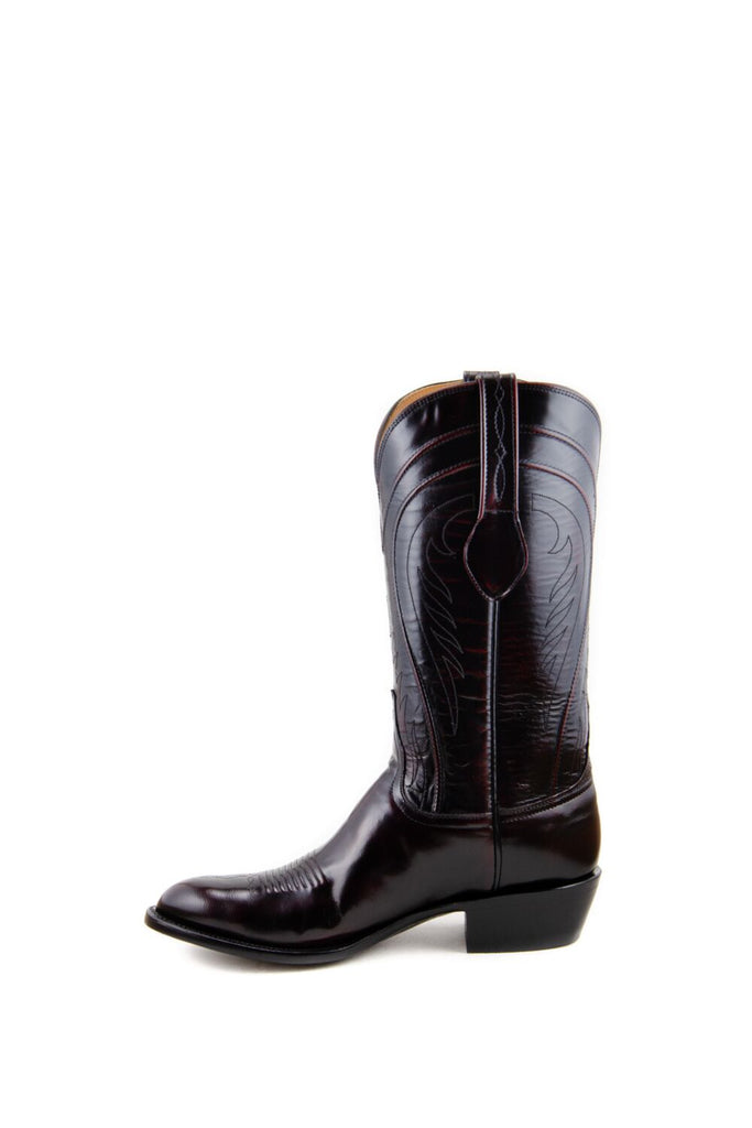 Men's Lucchese Classics Gavin Boots Black Cherry #L1505 6/3 view 7