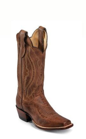 Women's Justin Vintage Goat Boots Tan Distressed #L2680