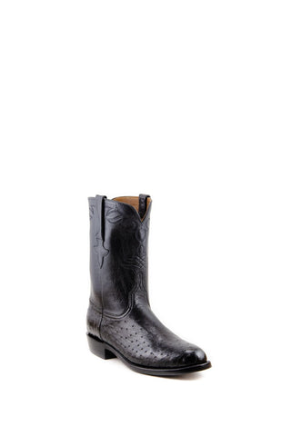 Men's Lucchese Classics Smooth Ostrich Boots Black #L3137 R/9
