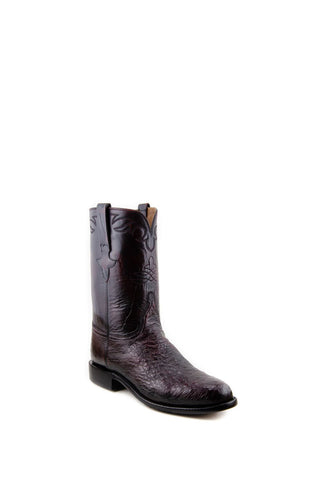 Men's Lucchese Classics Black Cherry Smooth Ostrich Roper #L3138-R/R