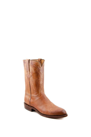 Men's Lucchese Classics Burnished Mad Dog Goat Boots Tan #L3570 R/R