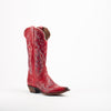 Women's Justin Cowhide Boots Red #L4346