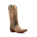 Women's Corral Boots Distressed Green and Beige Filigree #L5133 view 1