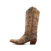 Women's Corral Boots Distressed Green and Beige Filigree #L5133
