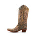 Women's Corral Boots Distressed Green and Beige Filigree #L5133 view 2