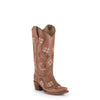 Women's Corral Brown/Multi Color Floral Embroidery Boots #L5176