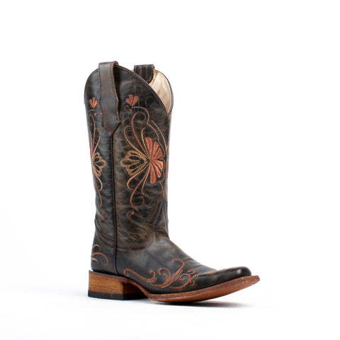 Women's Corral Boots Shedron Embroidery Square Toe #L5296