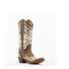 Women's Corral Embroidery Boots Tan #L5392