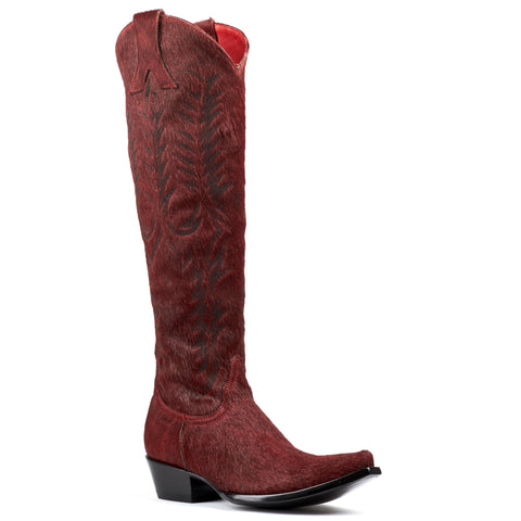 Women's Old Gringo Boots Mayra Red Hair-On #L601-59