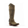 Women's Liberty Black Res Tesuto Boots Green #LB-71111-Verd