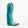 Women's Liberty Black Boots NuBuck Grease Turquoise Stonewashed #LB-712953-H