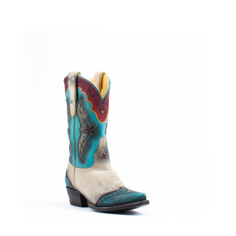 Women's Liberty Black Nobuck Ostra Multicolor Overlay Boots #LC-REL012P4A