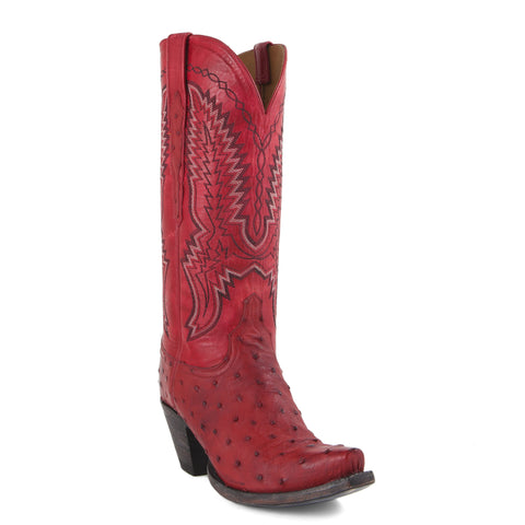 Women's Lucchese Classic Boots Red Ostrich #GD9086