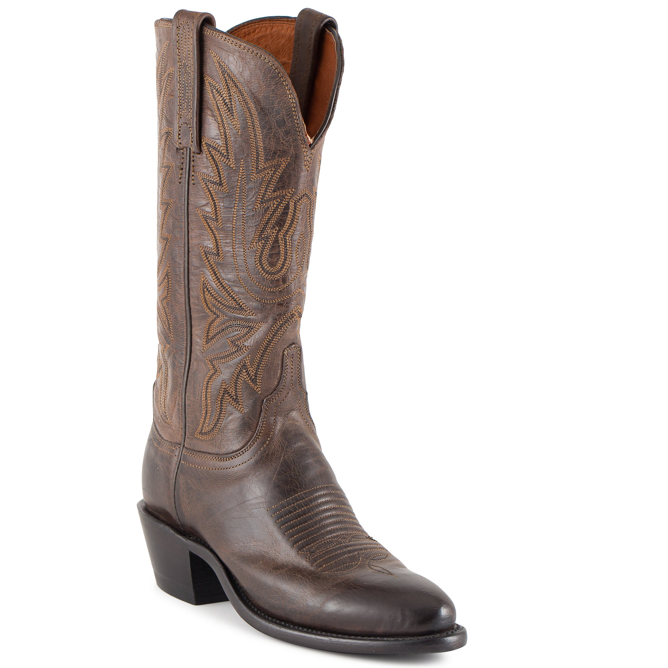 282df4987659f Women's Lucchese Mad Dog Goat Boots Chocolate #N4554-R4. Hover to zoom