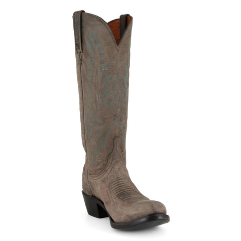 Women's Lucchese Boots Anthracite Mad Dog Goat #N9758-S8/4