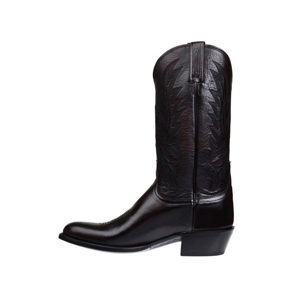 Men's Lucchese Black Lonestar Calf Boots #M1020-R/4 view 2
