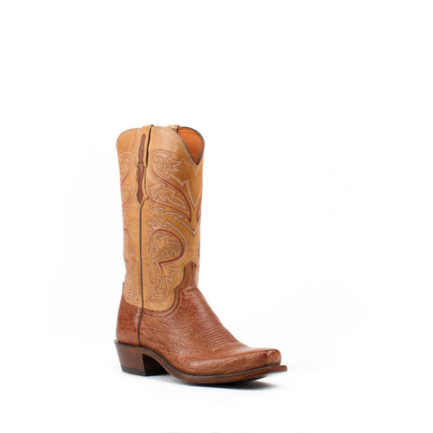 Men's Lucchese Smooth Ostrich Boots Barnwood #N1160 7/4