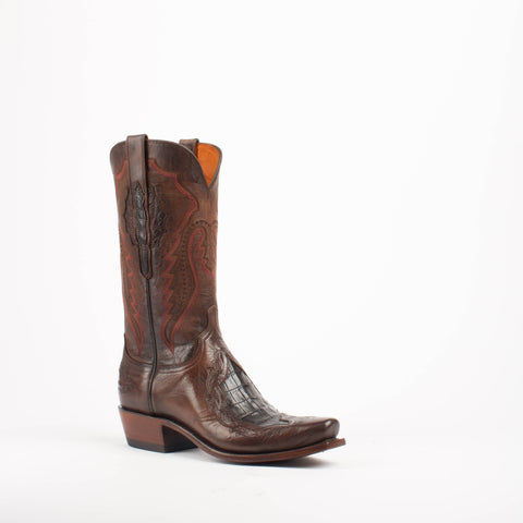 Men's Lucchese Choc Ferris Tool/Choc Mad Dog Goat Boots #N1164 7/3